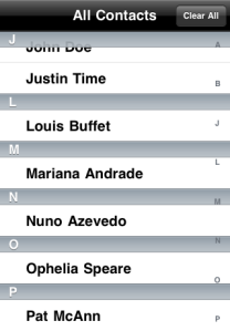 Select my name from your Contacts list